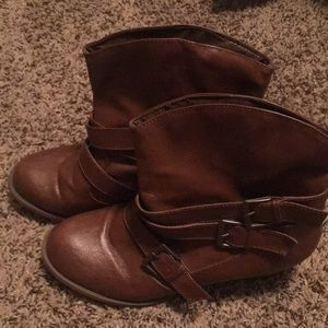 Gently worn ankle boots
